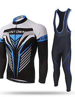 XINTOWN Cycling Jersey with Bib Tights Men's Long Sleeves Bike Pants / Trousers Tracksuit Zip Top Jersey Bib Tights Top Clothing Suits