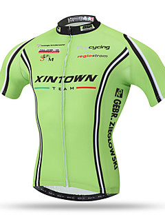 cheap -XINTOWN Cycling Jersey Men's Short Sleeves Bike Top Quick Dry Breathable Back Pocket Sweat-wicking Comfortable Terylene Spring Summer