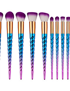 10 Oogschaduwkwast Waaierkwast Poederkwast Foundationkwast Contour Brush Brush Sets Blushkwast Synthetisch haarProfessioneel