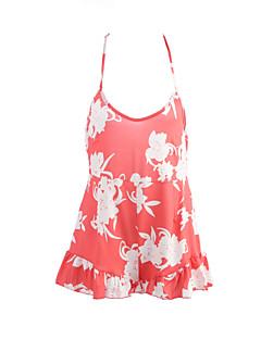 여성 칼집 드레스 캐쥬얼/데일리 섹시 프린트,스트랩 미니 민소매 폴리에스테르 여름 중간 밑위 약간의 신축성