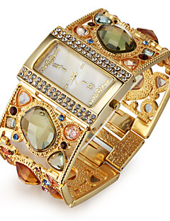 Amazing Women's Golden Bracelet Watch with Graceful Strap Watch Multi Color Diamond Decoration Cool Watches Unique Watches Fashion Watch