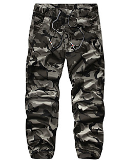 Men's High Rise Inelastic Sweatpants Pants,Active Slim Camouflage