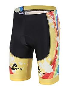 billige Sykkelklær-Miloto Unisex Fôrede sykkelshorts Sykkel Fôrede shorts / Bunner 3D Pute Spandex, Lycra Gul / Svart Sykkelklær / Høy Elastisitet