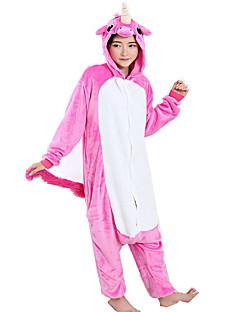 billige Kigurumi-Kigurumi-pysjamas Pegasus Enhjørning Onesie-pysjamas Kostume Flanell Fleece Fuksia Cosplay Til Voksne Pysjamas med dyremotiv Tegnefilm