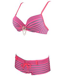 billige Bikinier og damemote 2017-Dame Geometrisk Grime Bikini Stripet
