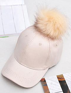 お買い得  ファッションアクセサリー-女性用 キュート ソリッド 日よけ帽 ベースボールキャップ