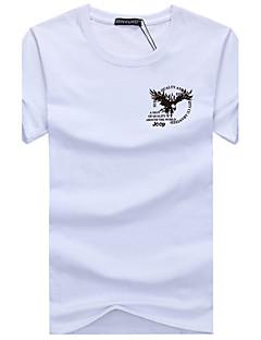 hesapli Grafik Tişörtler-Erkek Pamuklu Yuvarlak Yaka Tişört Desen Spor Büyük Bedenler