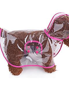 billiga Hundkläder-Katt / Hund Regnjacka Hundkläder Enfärgad Vit / Ros / Blå Plast Kostym För husdjur Sommar Ledigt / vardag / Vändbar