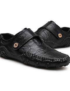 Χαμηλού Κόστους -Ανδρικά Οδήγηση παπούτσια Δέρμα Φθινόπωρο / Χειμώνας Μοκασίνια & Ευκολόφορετα Μαύρο / Καφέ
