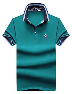 お買い得  メンズポロシャツ-男性用 プラスサイズ Polo 活発的 ストリートファッション シャツカラー ソリッド 刺しゅう コットン
