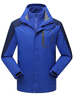 cheap Softshell, Fleece & Hiking Jackets-LEIBINDI Men's Hiking 3-in-1 Jackets Outdoor Winter Waterproof Thermal / Warm Windproof Fleece Lining Dust Proof Breathable Winter Jacket