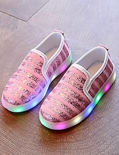 hesapli -Ayakkabı Kanvas Bahar Yaz Sonbahar Işıklı Ayakkabılar İlk Adım Rahat Spor Ayakkabısı Yürüyüş Atletik Günlük Dış mekan için LED Altın