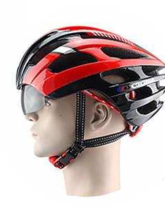 billiga Cykling-CIGNA Vuxen cykelhjälm Flyghjälm 18 Ventiler Stöttålig, Justerbar passform EPS, PC sporter Vägcykling / Rekreation Cykling / Cykling / Cykel - Blå / Svart / Grå+Grön / Vit / Svart / Röd