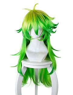 billiga Anime/Cosplay-peruker-Cosplay Peruker Cosplay Cosplay Grön Animé Cosplay-peruker 32 tum Värmebeständigt Fiber Herr Dam halloween Peruker
