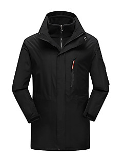 Men's 3-in-1 Jackets Waterproof Thermal / Warm Windproof Dust Proof Breathable Double Sliders 3-in-1 Jacket Winter Jacket Top for Skiing