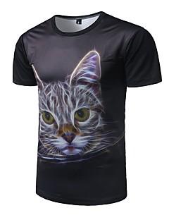cheap Men's Tops-Men's Active T-shirt - Animal Round Neck