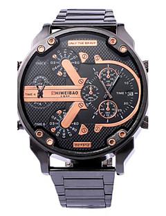 billige -Herre Herrer Selskapsklokke Moteklokke Armbåndsur Unike kreative Watch Hverdagsklokke Sportsklokke Militærklokke Quartz Kalender Punk