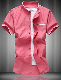 billige Herremote og klær-Bomull Tynn Klassisk krage Skjorte Herre - Ensfarget