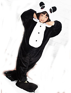 KIGURUMI Yöpuvut Panda Asu Coral Fleece Kigurumi Trikoot / Kokopuku Cosplay Festivaali / loma Animal Sleepwear Halloween Patchwork varten