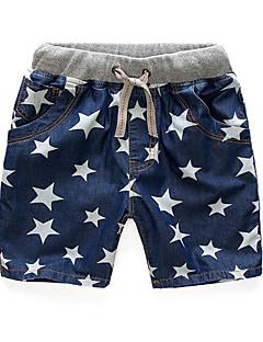 Para Meninos Shorts Casual Cor Única Primavera Verão Algodão