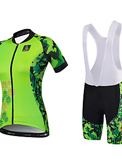 cheap Cycling Jersey & Shorts / Pants Sets-Malciklo Cycling Jersey with Bib Shorts Women's Short Sleeves Bike Jersey Bib Tights Clothing Suits Quick Dry Anatomic Design Water