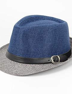 billige Trendy hatter-Herre Fritid Fedora Lapper Lin