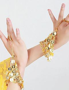 ベリーダンス ダンスグローブ 女性用 演出 金属 スパンコール 2個 ブレスレット