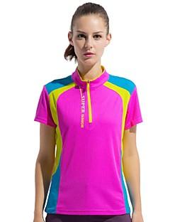 Damen T-Shirt für Wanderer Rasche Trocknung tragbar Atmungsaktiv Außen T-shirt Oberteile für Camping & Wandern Angeln Klettern Sommer L