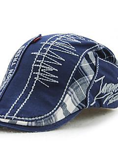 cheap Fashion Hats-Men's Vintage Casual Cotton Beret Hat - Patchwork