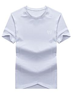 halpa -Miesten T-paita vaellukseen Hengittävä T-paita Topit varten Kalastus Kesä XXL XXXL XXXXL 4XL 5XL