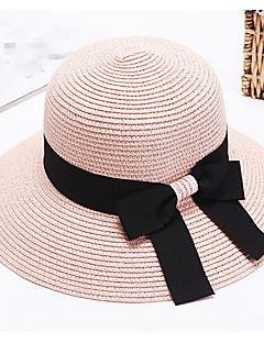 ieftine Breezy & Chic Straw Hats-Pentru femei Peteci Vintage Draguț Petrecere Birou Casual Paie Căciulă Palarie de soare
