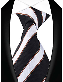 cheap Men's Ties & Bow Ties-Men's Vintage Party Work Casual Polyester Necktie - Striped