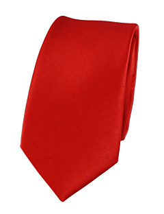 cheap Men's Ties & Bow Ties-Men's Cute Party Work Casual Polyester Necktie - Solid Colored