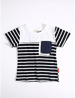 カジュアル/普段着 ストライプ コットン Tシャツ 夏 半袖