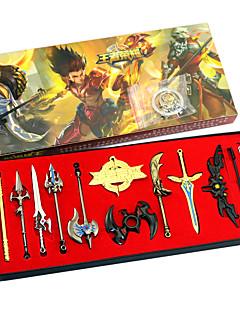 Inspirert av cosplay chyouun shiryuu anime ære av kongen nøkkelring gull legering 12stk