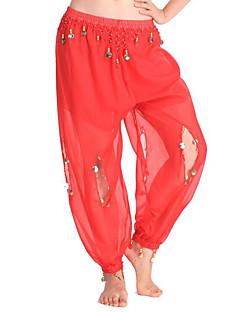 baratos Shall We®-Devemos nós dança de barriga mulheres femininas desempenho chiffon pingente 1 peça de calças altas