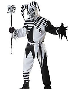 billige Halloween- og karnevalkostymer-Skjelett / Kranium Engel & Demon Monstere Cosplay Kostumer Herre Halloween Karneval De dødes dag Festival / høytid Drakter Svart / Hvit Mote