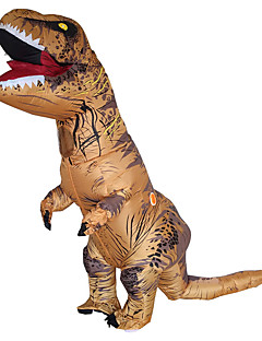 cheap Men's & Women's Halloween Costumes-Dinosaur Cosplay Costume Waterproof  Costume Inflatable Costume Halloween Props Movie Cosplay Brown Leotard / Onesie Air Blower Christmas