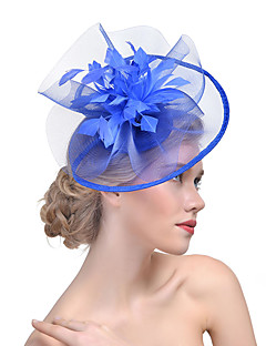 Women's Acrylic Hair Clip,Hat Solid Color Mesh All Seasons