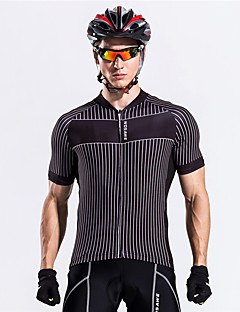 cheap -WOSAWE Cycling Jersey Unisex Short Sleeves Bike Sweatshirt Jersey Top Breathable Back Pocket Sweat-wicking Polyester Classic Summer