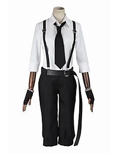 """billige Anime Kostymer-Inspirert av Bungo Stray Dogs Cosplay Anime  """"Cosplay-kostymer"""" Cosplay Klær Cosplay Topper / Underdele Mote Langermet Frakk Bukser Seler"""