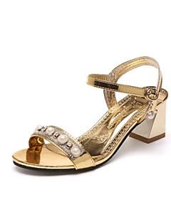 Χαμηλού Κόστους -Γυναικεία Παπούτσια PU Καλοκαίρι Λουράκι στη Φτέρνα Σανδάλια Χρυσό / Ασημί