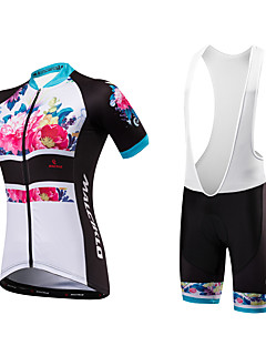 cheap Cycling Jersey & Shorts / Pants Sets-Malciklo Cycling Jersey with Bib Shorts Women's Unisex Short Sleeves Bike Bib Shorts Sweatshirt Jersey Padded Shorts/Chamois Anatomic