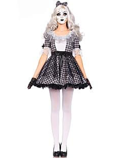 Spøkelse Cosplay Cosplay Kostumer Kvinnelig Halloween Karneval Festival/høytid Halloween-kostymer Svart og Hvit Mote