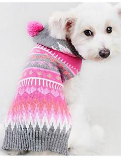 Koira Neulepaidat Koiran vaatteet Rento/arki Muoti Geometic Fuksia Asu Lemmikit