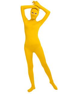 billige Zentai-Skinnende Zentai Drakter Zentai Cosplay-kostymer Beige Mørkegrønn Fuksia Brun Sølv Helfarge