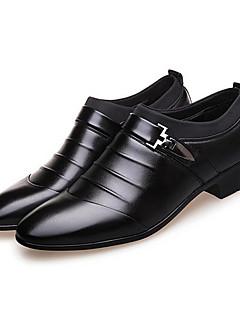 hesapli -Erkek Ayakkabı Mikrofiber Bahar Sonbahar Biçimsel Ayakkabı Moda Botlar Çizmeler Yürüyüş Düğün Ofis ve Kariyer Parti ve Gece için Perçin
