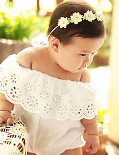 Baby Einzelteil Modisch Bestickt einfarbig Baumwolle Sommer Kurzarm