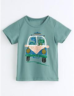 billige Barns Moteklær-Gutt T-skjorte Geometrisk Bomull Kortermet
