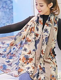 Flower Korea Cotton and Linen Retro Scarf Shawl Thin Long Rectangle Women's Beach UV Sunscreen Bohemia Retro Print Scarves
